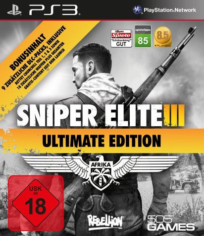 Ps3 Sniper Elite Iii Afrika Ultimate Edition Ps3 Games Ps3